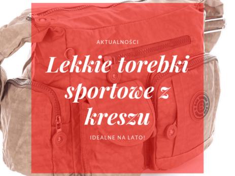 Lekkie torebki sportowe z kreszu