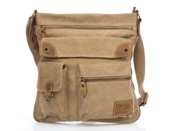 Poszerzana torba beżowa Bag Street 4542