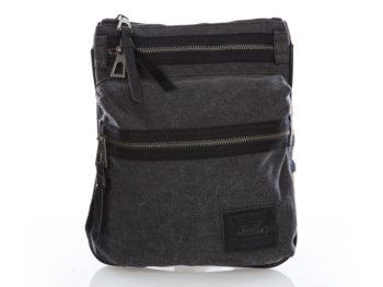 Wygodna torba męska na ramię szaro-czarna