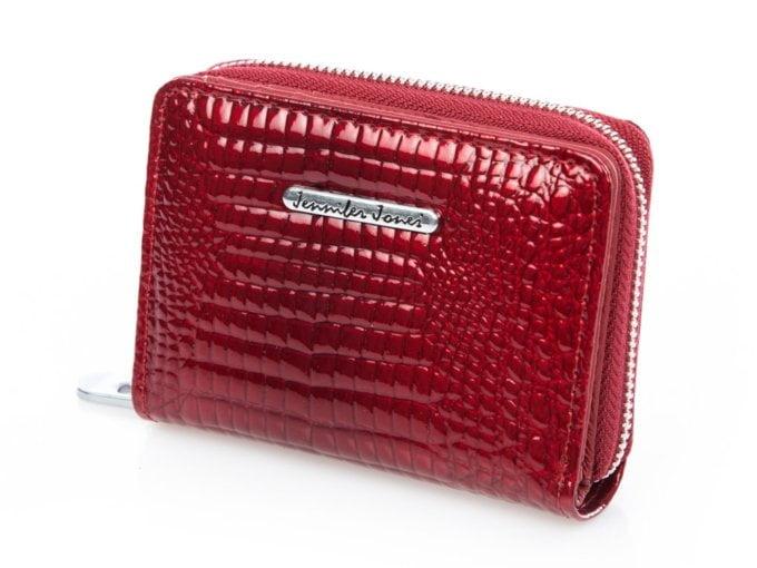 Mały czerwony portfel damski Jennifer Jones lakierowany