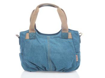 Niebieska płócienna torba do ręki