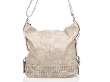 Kremowa torba z ćwiekami Jennifer Jones