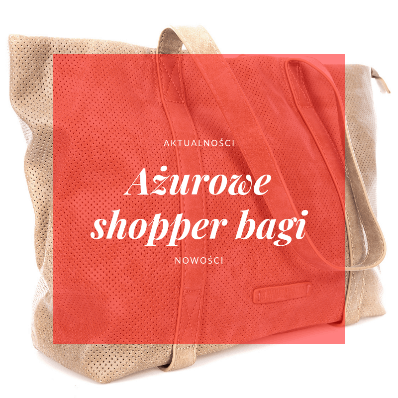 ażurowe shopper bagi