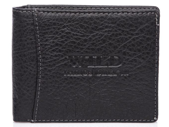 Czarny, klasyczny portfel WILD Things Only