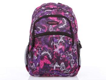 Fioletowo różowy dziewczęcy plecak szkolny