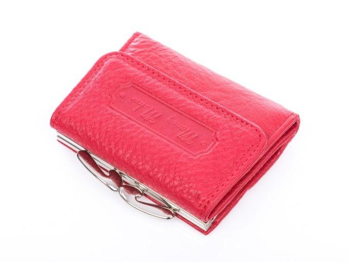 Mały portfel do ręki matowy czerwony