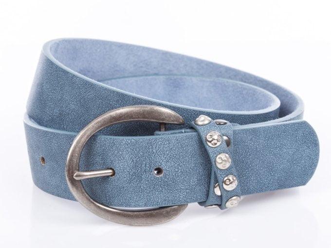 Wysokiej jakości niebieski pasek damski do spodni