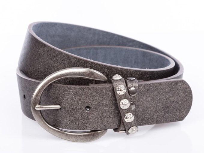 Ciemno srebrny pasek damski do spodni