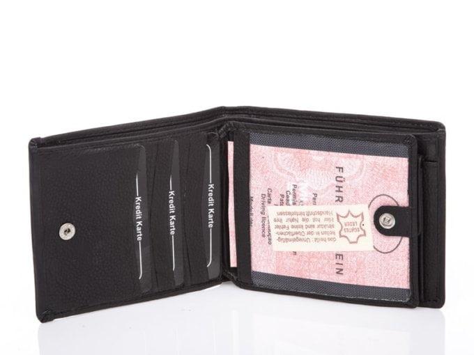 Klasyczny czarny portfel męski
