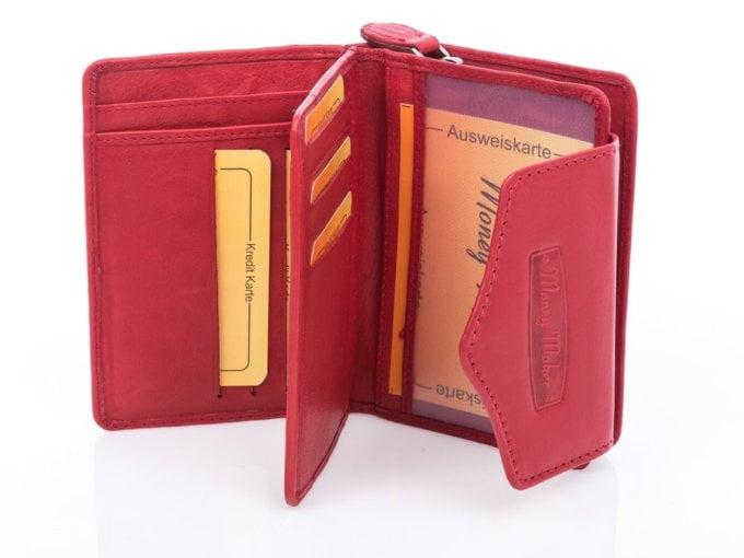 Czerwony portfel money maker skóra cielęca 528b