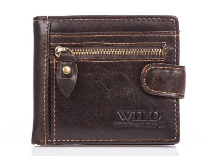 Ciemno brązowy portfel męski WIld