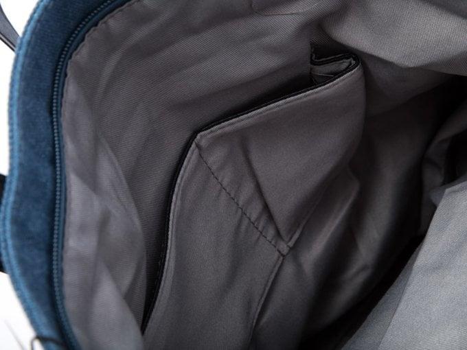 Niebieska torba płócienna damska do ręki