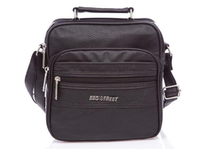 Nieduża czarna torba naramienna męska na ramię Bag Street