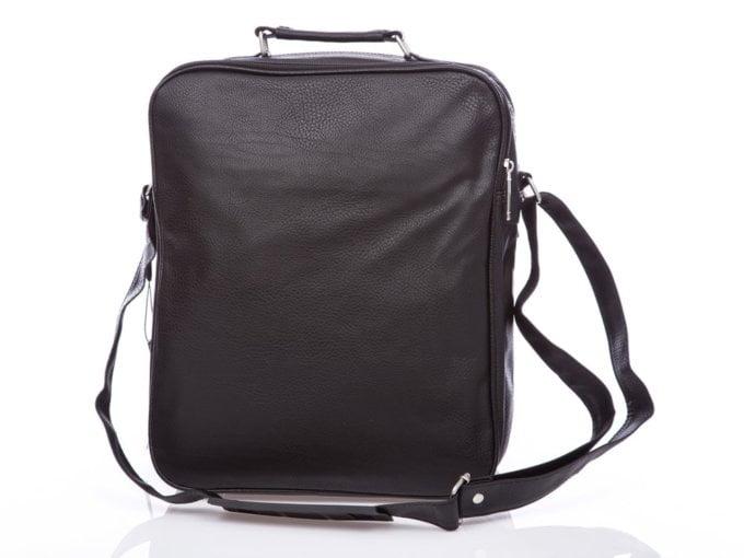 Duża pionowa torba męska na ramię a4
