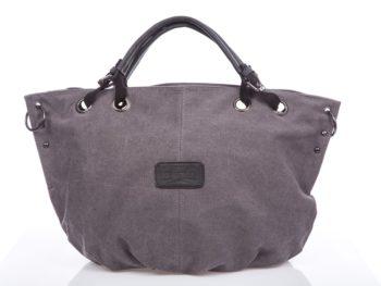 Duża szara torba typu shopper bag