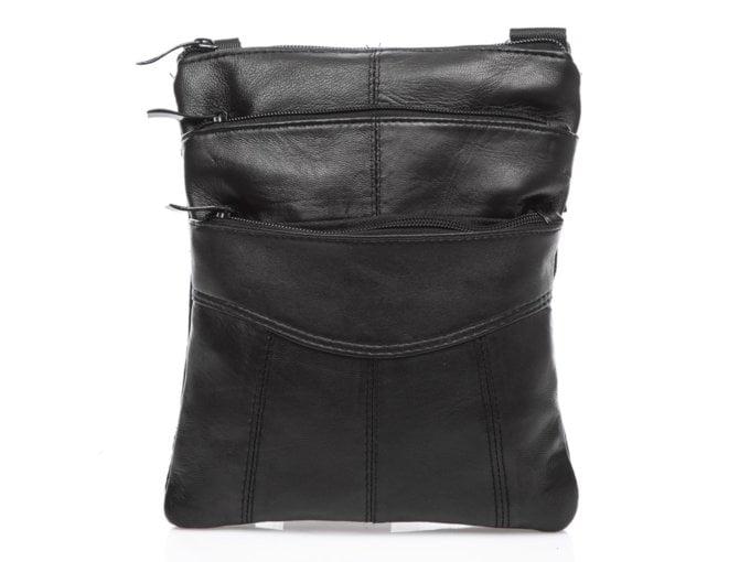 Czarna torba męska z miękkiej skóry naturalnej
