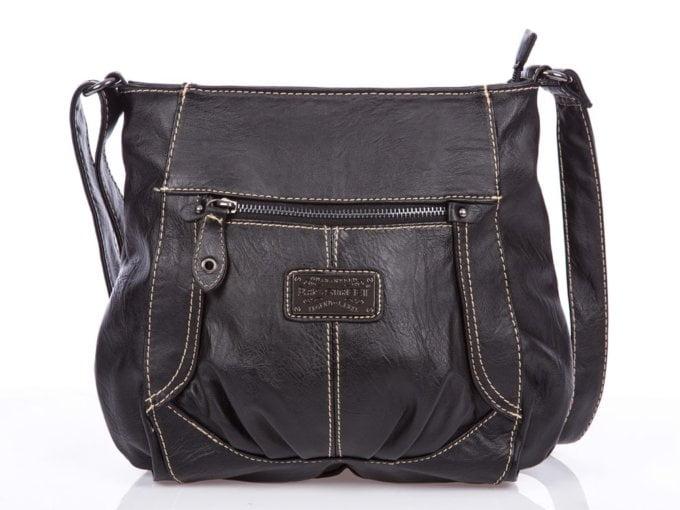 modna czarna miejska torebka damska