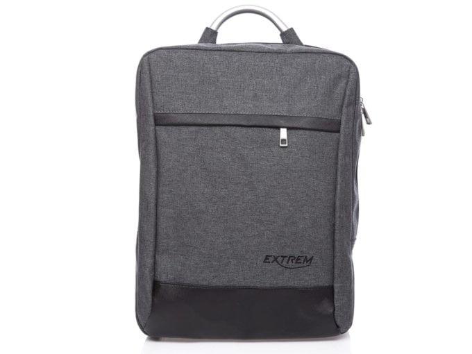 Szary materiałowy plecak na laptopa 15,6