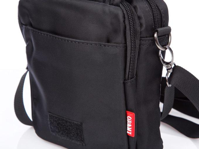 Czarna nylonowa torebka mała ORMI