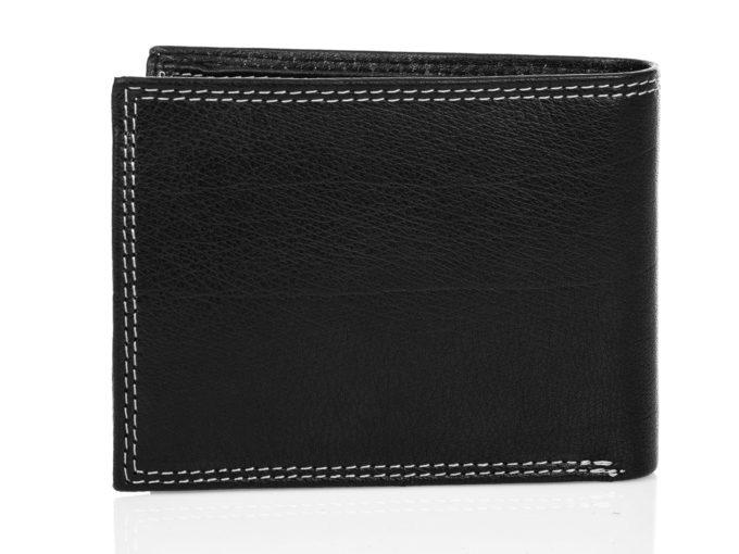Skórzany portfel męski czarny klasyczny