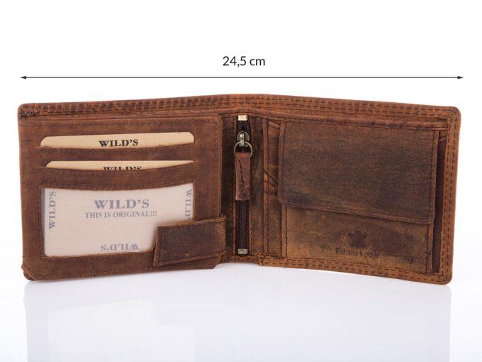 Męski portfel brązowy old-style