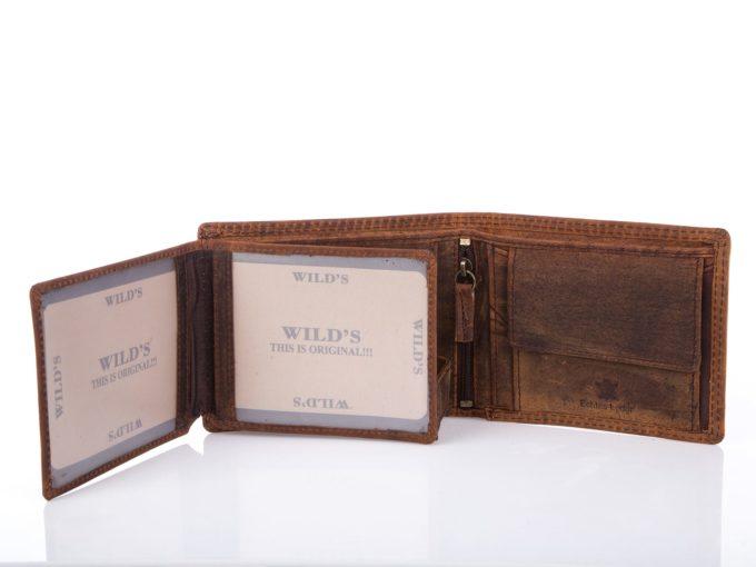 Męski portfel ze skóry naturalnej w starym stylu