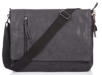 Praktyczna torba męska na ramię A4 czarna Harold's