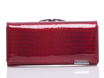 Czerwony duży portfel damski na bigiel