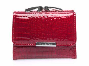 Malutki portfel damski Jennifer Jones w biglem, czerwony
