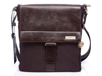 Brązowa torebka damska Jennifer Jones z klapką