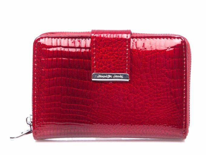 Średni portfel damski czerwony na zamek 5198