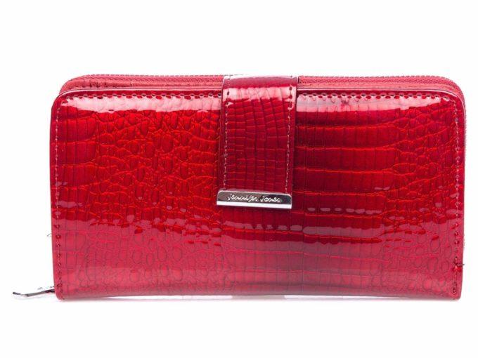 Portfel 5280 czerwony zapinany na zamek