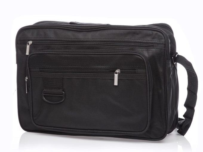 Czarna tania torba na laptopa