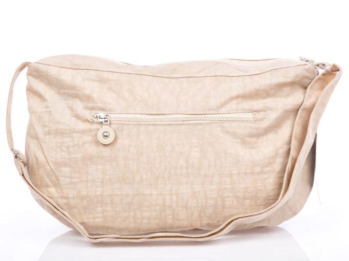 Jasno beżowa lekka torebka sportowa z kreszu