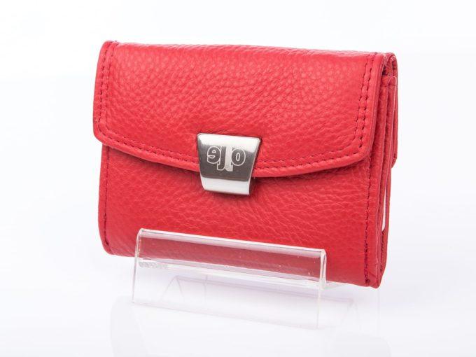 Mały portfel damski czerwony Olle