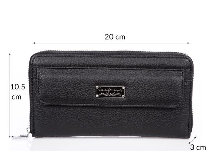 Duży czarny portfel skórzany