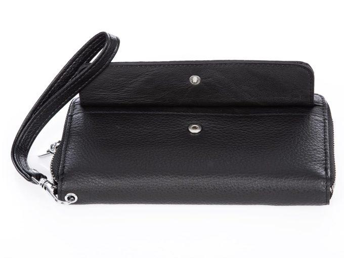 portfel z kieszonką na zewnątrz