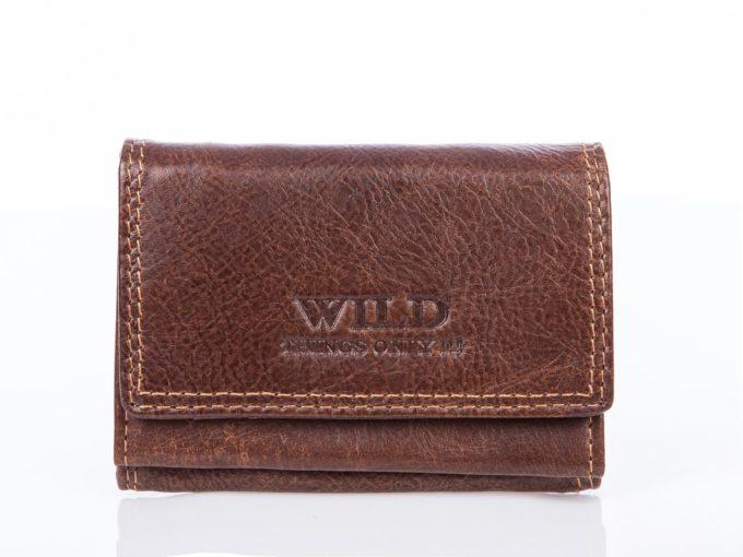 Niewielki portfel męski brązowy na wyjście na miasto