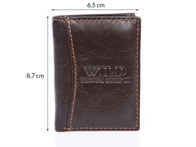 WILD malutki portfel męski wymiary