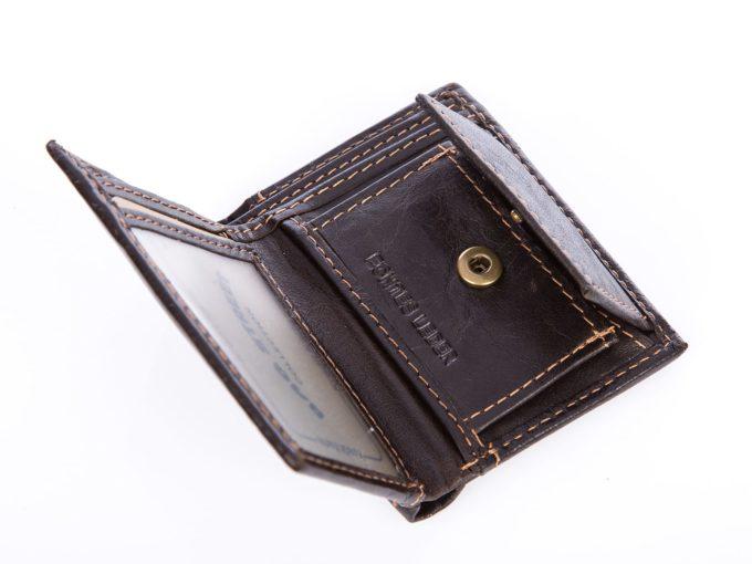 Bardzo mały portfel męski z kieszenia na monety