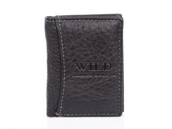 Mały portfel męski czarny na wyjście na miasto