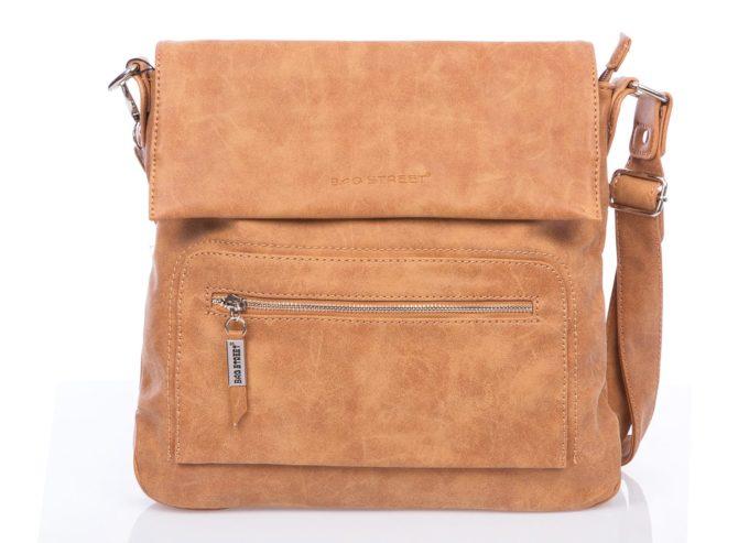 Damska torebka na ramię Bag Street koniak