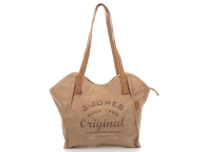 Beżowa torba damska z długimi rączkami