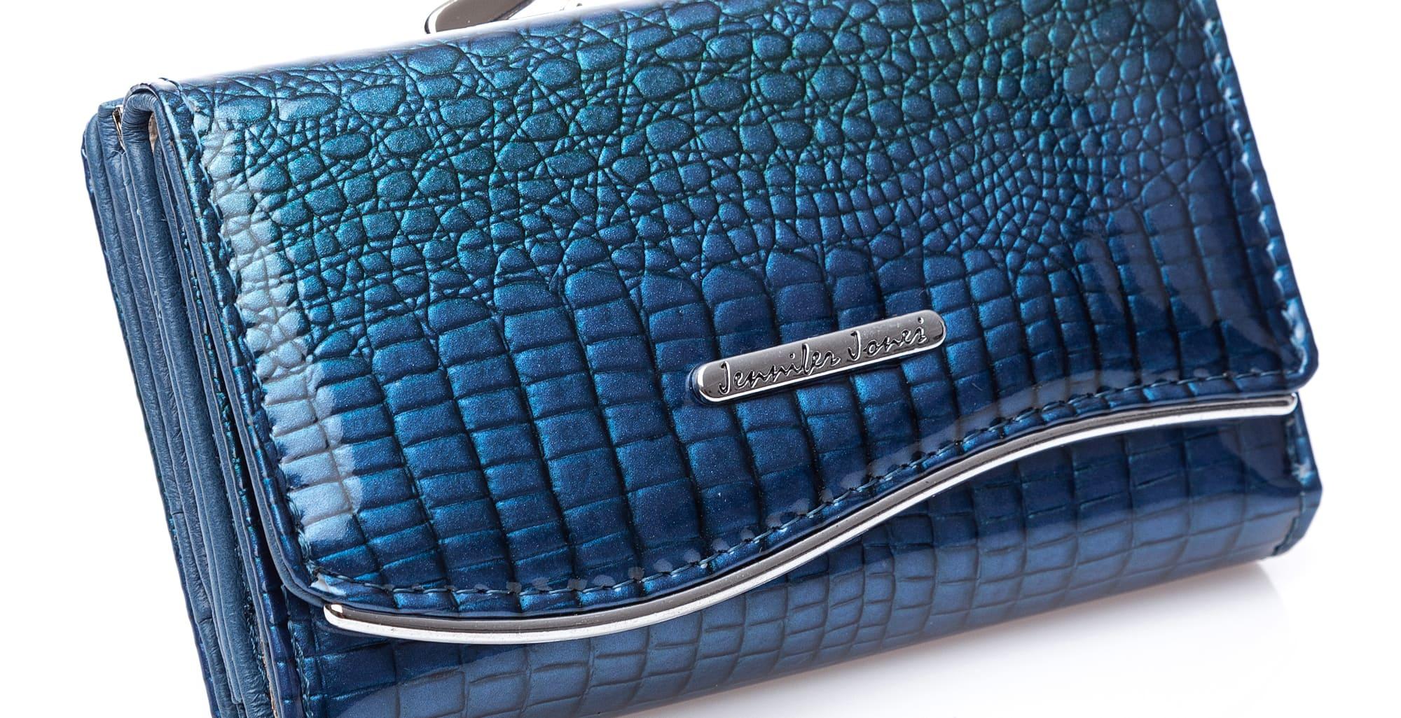 Niebieski portfel damski kameleon