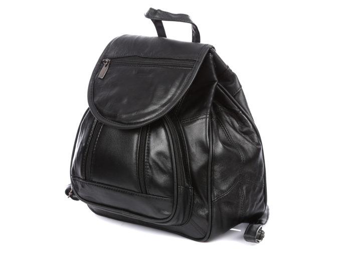 Plecak czarny Bag Street ze skóry naturalnej