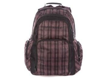 Brązowo czarny plecak szkolny
