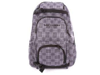 Szaro czarny plecak szkolny Bag Street