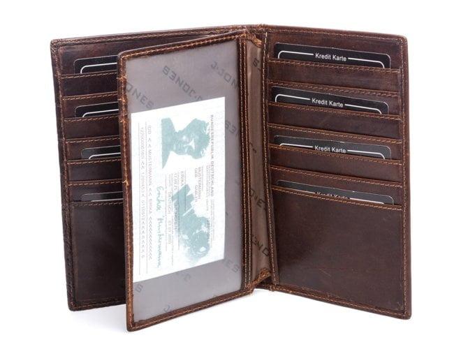 Bardzo duża kieszonka przezroczysta w portfelu