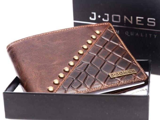 Brązowy portfel w pudełku
