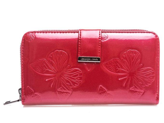 Różowy portfel damski z motylkami